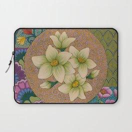Jasmine Flower  Mandala  Laptop Sleeve