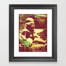 Mayan figurine Framed Art Print