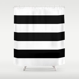 BLACK  & WHITE STRIPES XXL Shower Curtain