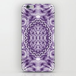 Grape Wash Zentangle Tile Doodle Design iPhone Skin