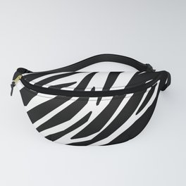 Zebra Black and White Pattern Fanny Pack