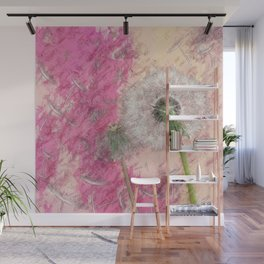 Dandelion - pastel fantasy Wall Mural