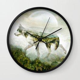 WOLF MOUNTAIN Wall Clock