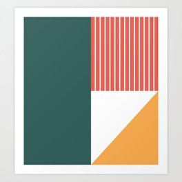 Earth-tone Color-block Art Print