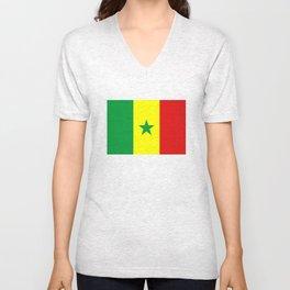 Senegal country flag Unisex V-Neck