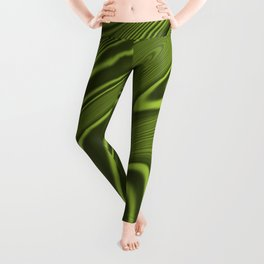 Abstract Fractal Colorways 03 Malalchite Lime Green Leggings