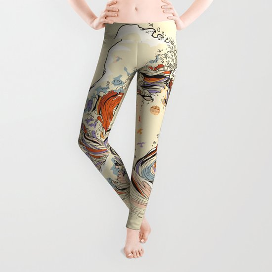The Wave of Love Leggings