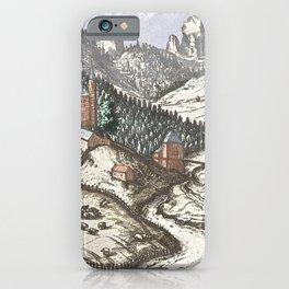 Village mountain scene Innsbruck iPhone Case