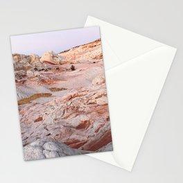 White Pocket Purple Hour Stationery Cards
