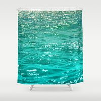 patrick Shower Curtains featuring SIMPLY SEA by Catspaws