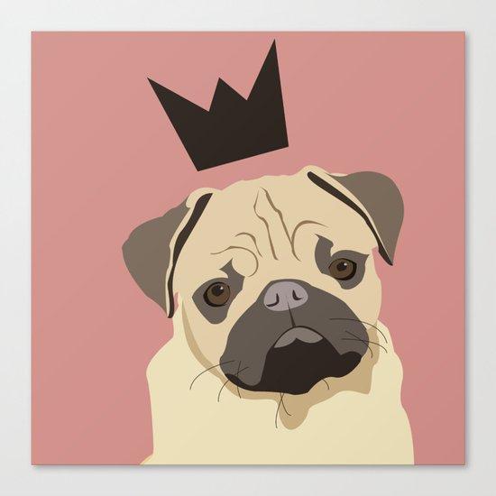 Royal pug Canvas Print