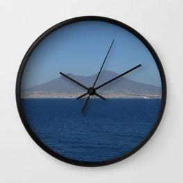 The soul of Naples Vesuvius Wall Clock