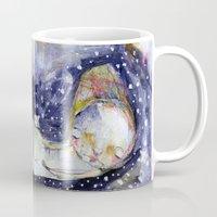 sleep Mugs featuring Sleep by Mindy Lacefield