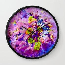 flowers magic Wall Clock
