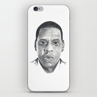 jay z iPhone & iPod Skins featuring Jay-Z by Stephanie Morris Illustration