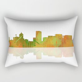 Portland Oregon Skyline Rectangular Pillow