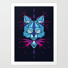 Triangle wolf Art Print