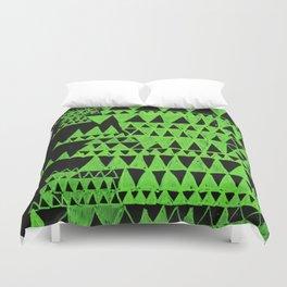 green triangles Duvet Cover