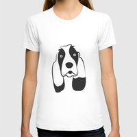 the hound T-shirts featuring Basset Hound by anabelledubois