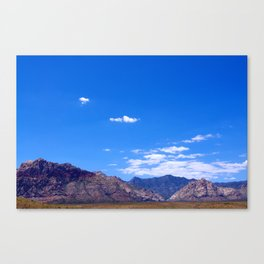 Clear Skies and Rocky Roads Canvas Print