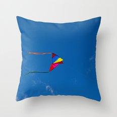Controlled Flight - Kite 7479 Throw Pillow