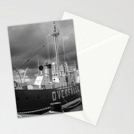 Overfalls Lightship Lewes Black and White Coastal Landscape Photograph Stationery Cards