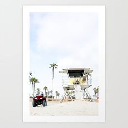 San Diego Beach Lifeguard Hut Art Print