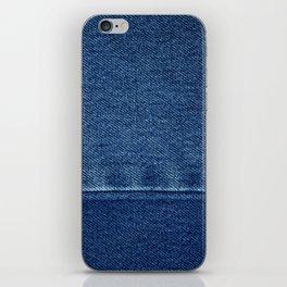 Blue Jean Texture V4 iPhone Skin