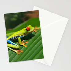 Green Tree Frog Red-Eyed Stationery Cards