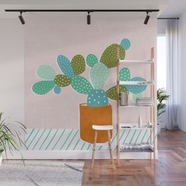 modern cacti Wall Mural