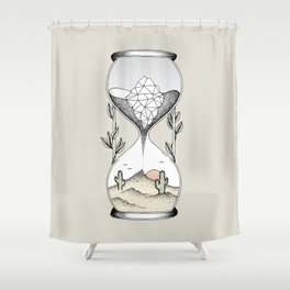 Time Is Running Out Shower Curtain