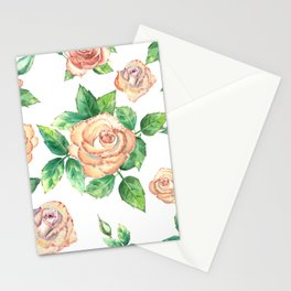 Peach Roses Neck Gator Peach Rose Stationery Cards