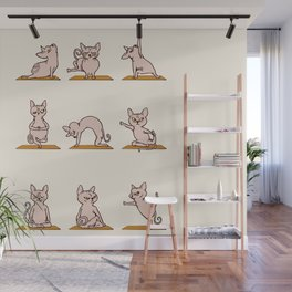 Sphynx Cat Yoga Wall Mural