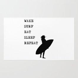 Wake Surf Eat Sleep Repeat Rug