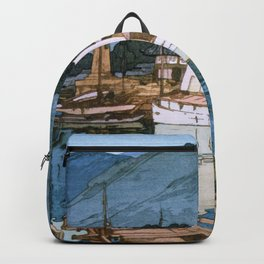 Yoshida Hiroshi - The Inland Sea Series, Second Series - Tomonoura Harbor  Backpack