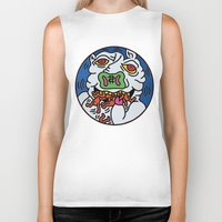 keith haring Biker Tanks featuring Keith Haring Pig 1988  by cvrcak
