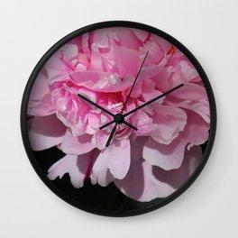 Peonia rosada 2 Wall Clock
