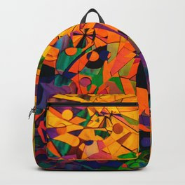 Colorful Abstract Art Backpack