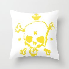 XXX Skull Throw Pillow