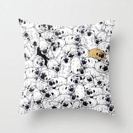 pug world Throw Pillow