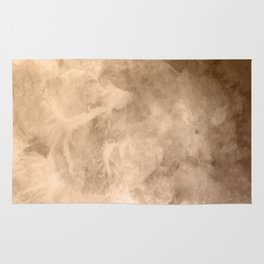 Watercolor Valentine Brown Background Rug