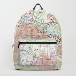 Vintage Map of Eugene Oregon (1967) Backpack