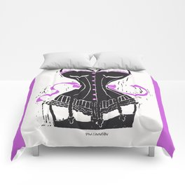 Corset Stockings and Bows Comforters