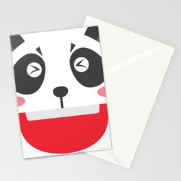 Lovely Panda Face Stationery Cards