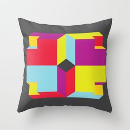 Cubey Throw Pillow