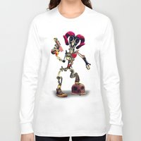 invader zim Long Sleeve T-shirts featuring Invader Skull by Ali GULEC