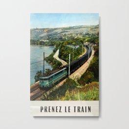 Prenez le Train Vintage Travel Poster Metal Print