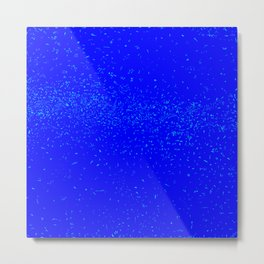 Blue Fleck Background Metal Print