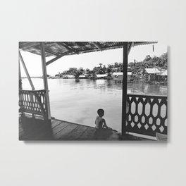Quiet Moment on Isla Bastimento, Panama Metal Print