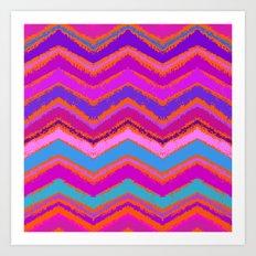 Purple zigzag Art Print